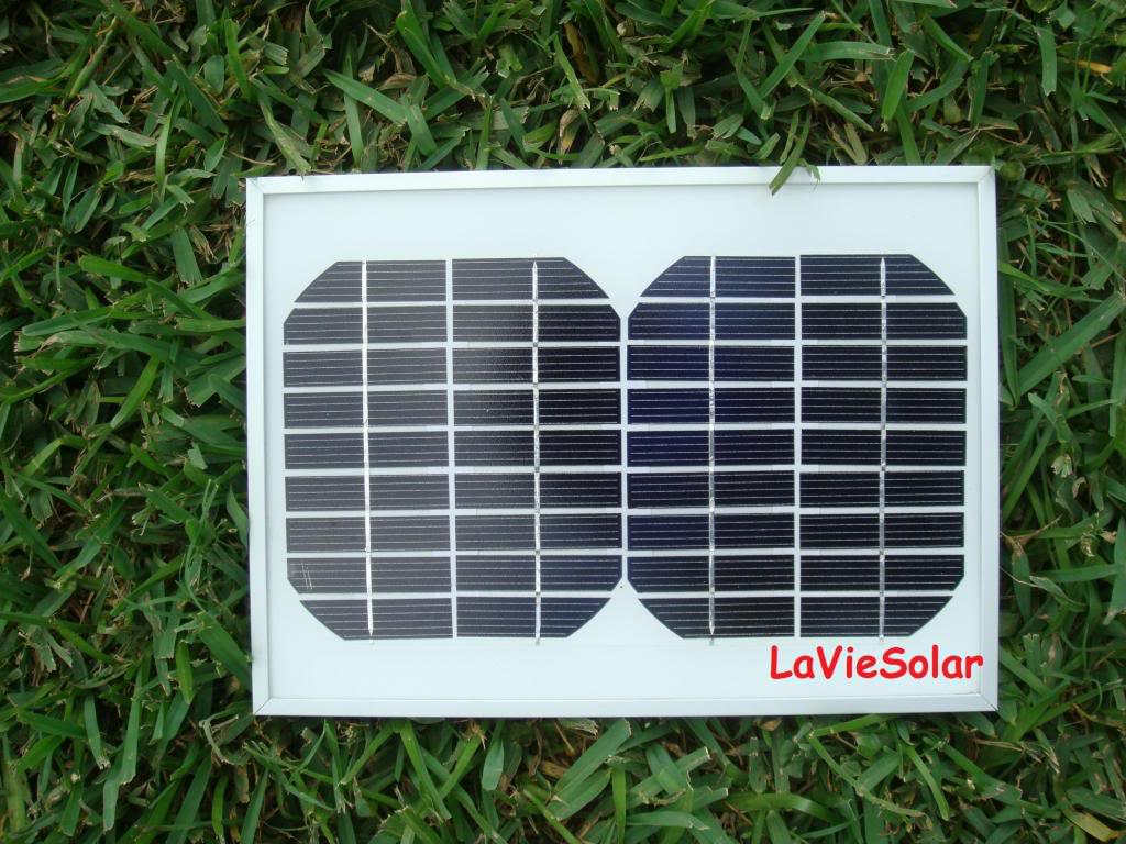 LaVie 5 WATT 12 VOLT DC MONOCRYSTALLINE SOLAR PANEL