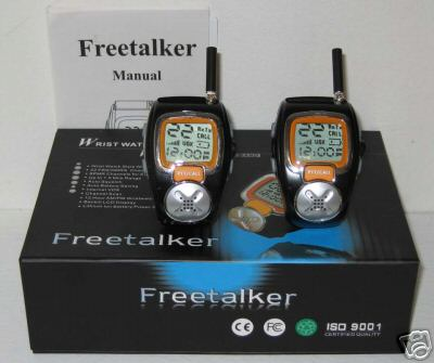 Freetalker Walkie Talkie Wrist Watch FRS Radios